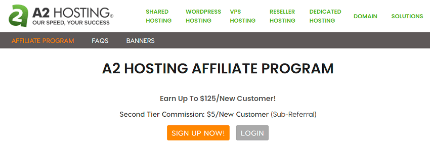 a2 hosting web hosting affiliate program