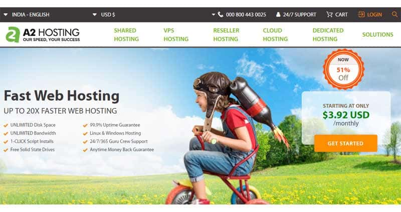 a2hosting cheapest reseller hosting in the world