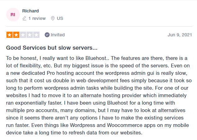 bluehost hosting reviews