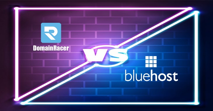domainracer vs bluehost india hosting packages