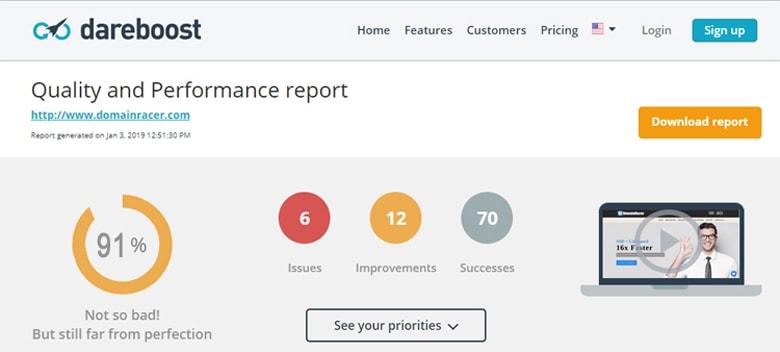 domainracer high performance web hosting