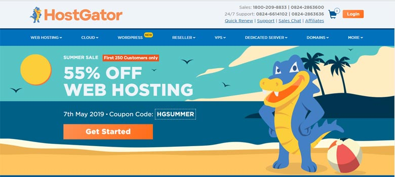 hostgator bluehost similar competitors