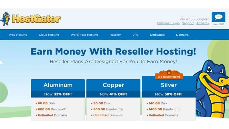 hostgator best reseller hosting usa price