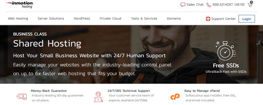 inmotion hosting options