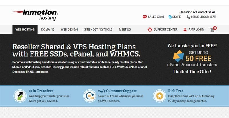 inmotionhosting best web hosting reseller program